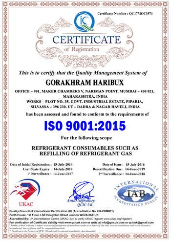 Certificate of Registration - Gorakhram Haribux